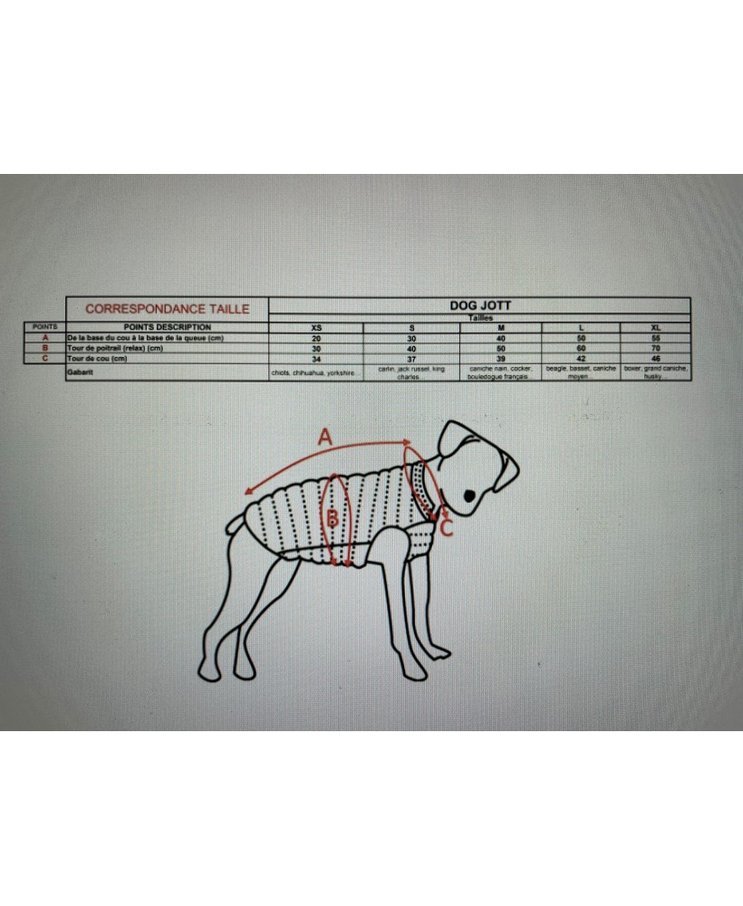 Acheter Jott Doudoune pour Chien DOG Basic 204-KAKI - 3900DOG-204-KAKI chez Vertigo